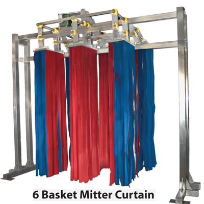6 basket curtain
